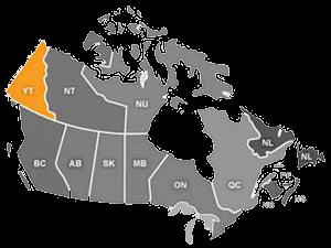 استان یوکان غربی ترین و کوچکترین استان شمال غرب کانادا می باشد.